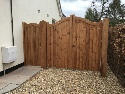 Softwood treated brown with Bowman side gate